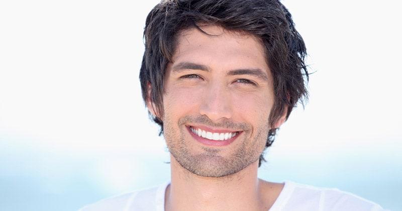 Man with straight teeth 20s
